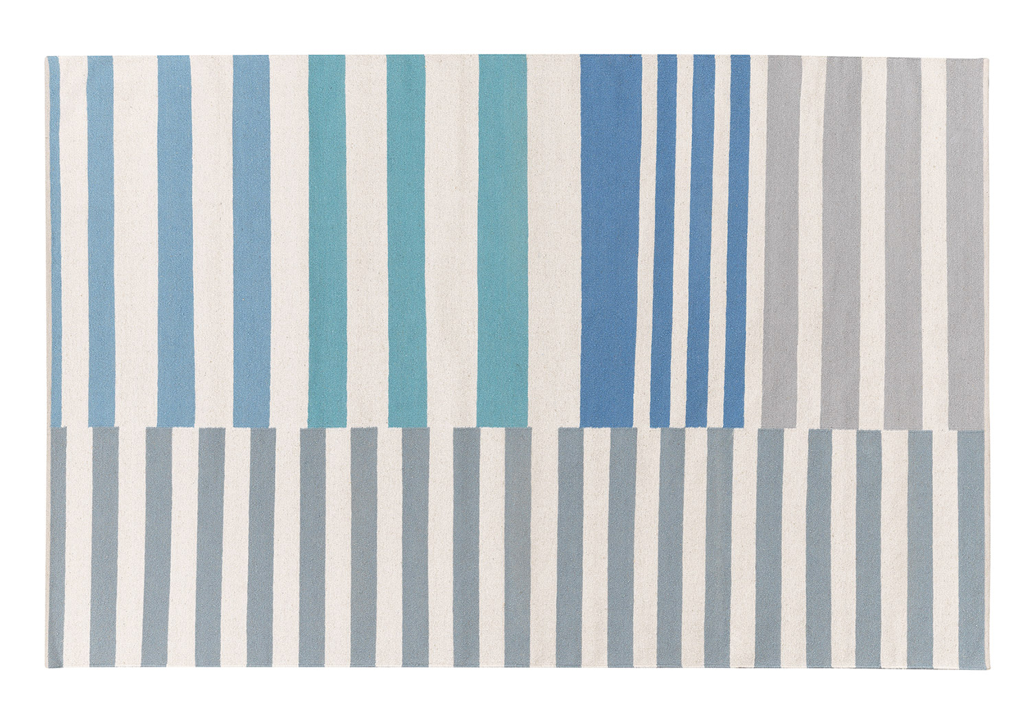Tappeto a righe Designers Guild - Stylish Striped Rug Anwen Delft