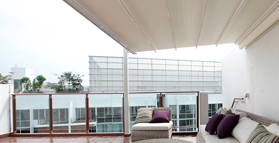 Tende da sole - Struttura ombreggiante in alluminio KE PROTEZIONI SOLARI