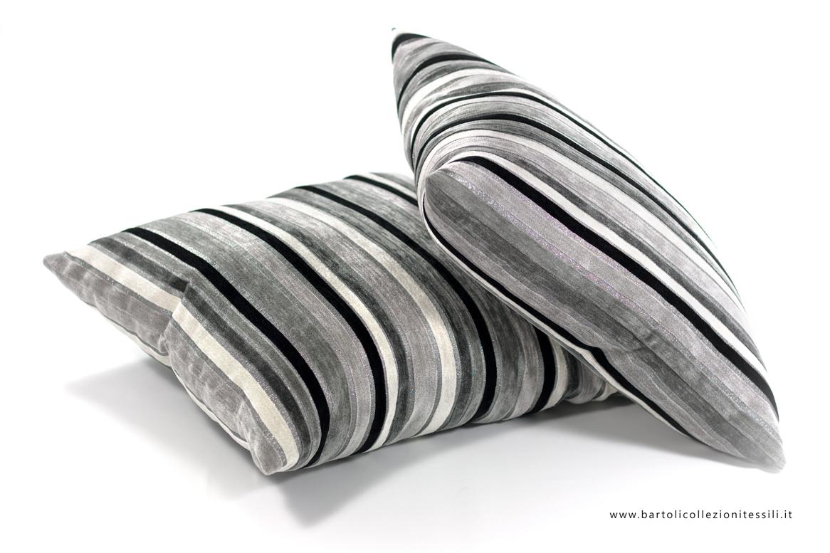 Biancheria per il soggiorno, cuscini d'arredamento in tessuto rigato