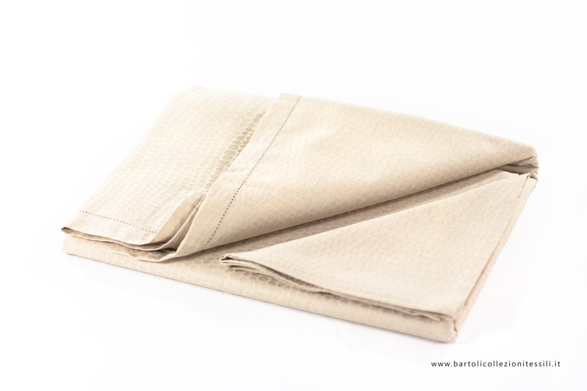 Vallesusa, Tovaglia in cotone da 12 completa di tovaglioli